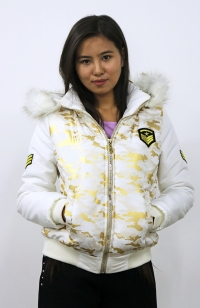 Jacket - White, golden camo (Female)