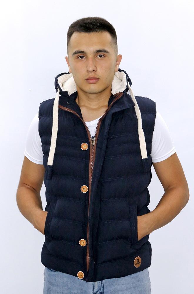 Куртка жилетка - Синяя