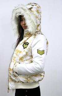 Куртка - Белая, золотой камуфляж (Женская)