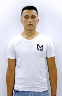 Футболка V-воротник - Белая