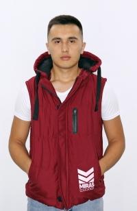 Куртка жилетка - Бордовая