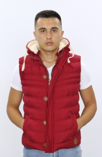 Куртка жилетка - Красная